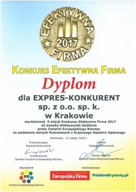 DYPLOM EFEKTYWNA FIRMA 2017